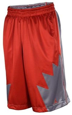 dbb24feea832 Jordan Men s Court Fit Retro V 5 Basketball Shorts-Red Gray-Large