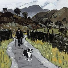 Kyffin Williams (UK, Wales 1918-2006)Farmer, Blaen Nantmor----reminds me of Cornwall, and a farmer I saw there-