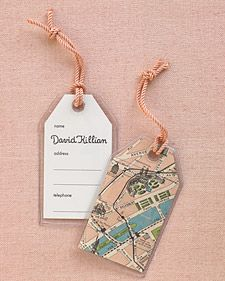 Help guests find their seats by offering personalized luggage tags that make a functional keepsake.