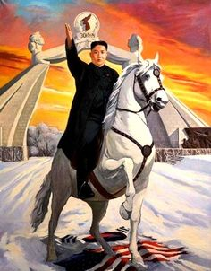 This portrait of Kim Jong-un, painted by Vasily Galaktionov and called Liberator of Korea, was given as a gift to the North Korean leader by Anatoly Dolgachev, a legislator from Russia's Far Eastern Region Nuclear Test, Nuclear Power, Life In North Korea, The Rok, Propaganda Art, Korean Peninsula, Ligne Claire, Korean Art, Pics Art