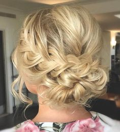 Loose Messy French Braided Updo