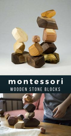 A new take on the classic wooden building block. These are Tumi ishi wooden balancing stones. We use the highest quality sustainably sourced wood; such as, black walnut, hard maple, cherry, and cedar. We carefully sand each block and finish with our own blend of jojoba oil and beeswax. Our finish is 100% organic and 100% non toxic.   montessori   waldorf   education   toddler   baby   kids   #affiliate