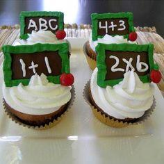 6 Cupcakes Día Del Maestro! En Caja De Regalo