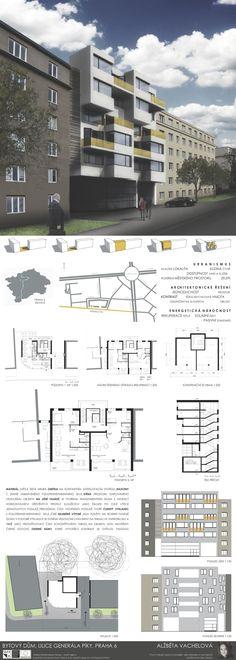 Studentský projekt. LS 2013/2014. FSv ČVUT v Praze. Ideas Para, Floor Plans, Presentation Board Design, Buildings, Atelier