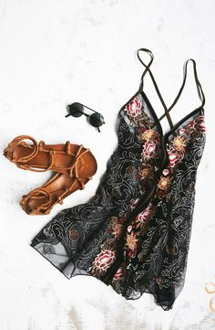 Would wear this Free People slip layered with a lighter slip for a bohemian daytime look.