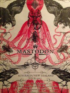 mastodon gig poster //2007
