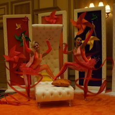 ribbon dancers Las Vegas, special event entertainment - rhythmic gymnasts www.noveltyent.com