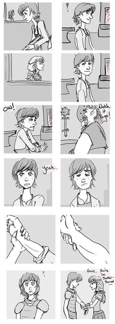 Cute comic strip of Hiccup being distracted by Astrid. Adorbs.  Comic posted and created by avannak on Tumblr.