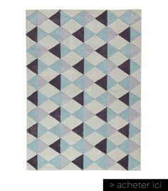 Tapis scandinave à poils courts bleu 140 x 200 cm Nordic Maisons du Monde