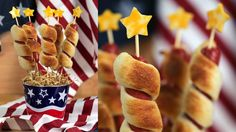 Dazzle the Crowd With Firework Hot Dogs This Fourth of July: Get ready for Fourth of July with these adorable firecracker hot dogs that are pretty much giant pigs in a blanket.