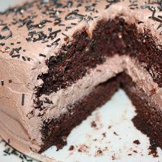 Nydelig, saftig enkel å lage sjokoladekake – Spiselise Sweets Recipes, Desserts, Sweet Life, Food Truck, Tiramisu, Cupcake Cakes, Cupcakes, Delish, Tart
