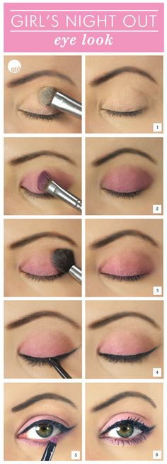 Girl's night out makeup- can't wait to have our new pink shade come out so I can use it for this look with our gel liner!