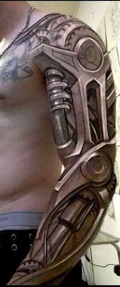 Amazing biomechanical tattoo for men - tattoo ideas - . - Amazing biomechanical tattoo for men – tattoo ideas – – Yeyy! Badass Tattoos, Great Tattoos, Beautiful Tattoos, Tattoos For Guys, Amazing 3d Tattoos, Warrior Tattoos, Cyborg Tattoo, Biomech Tattoo, Biomechanical Tattoo Arm
