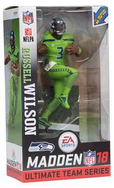 McFarlane Toys EA Sports Madden NFL 18 Ultimate Team Series 1 Russell Wilson for sale online Seahawks Fans, Seahawks Football, College Football, Russell Wilson, Nfl Seattle, Seattle Seahawks, Nfc Teams, Wilson Sport, Seattle Photography