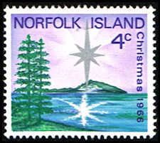 Norfolk Island 99 Stamp - Star over Philip Island Stamp - PC NI 99-1 MH