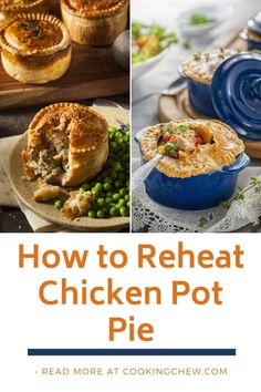 How to Reheat Chicken Pot Pie. Got some leftover chicken pot pie in the fridge? Learn how to reheat it properly without turning it into a mushy mess! Use an Oven to Heat Up Chicken Pot Pie Cooked Chicken, Healthy Meals To Cook, Healthy Recipes, Thin Crust, Pot Pie, How To Cook Chicken, No Bake Cake, Cooking Tips