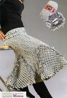 """Patron Crochet Falda """"Lanas"""" - Patrones Crochet"""