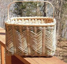 Hand Woven Double Walled Market Basket