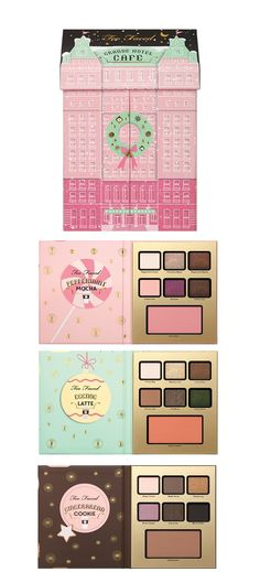 Too Faced Holiday 2016 Palettes & Gift Sets | Too Faced Grand Hotel Café Set $49.... love it ❤️