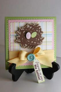 Liz's Paper Loft: Straight from the Nest vCould use jelly bean stamp instead of eggs, make nest green, use spring color pallet.