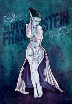 The Bride of Frankenstein pin up