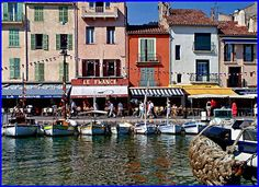 Cassis looks like an adorable coastal town that is the namesake of the liquor used in Kir Royales.  Yum.