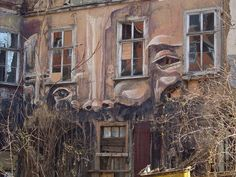 A ruin in the city of Erfurt and a little bit Streetart