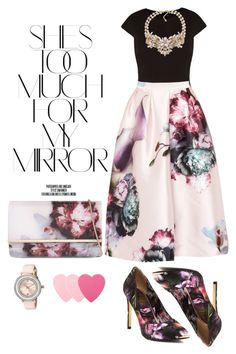 """""""Untitled #322"""" by sanela-o on Polyvore featuring Rika, Ted Baker, Carolee, Sephora Collection, women's clothing, women, female, woman, misses and juniors"""