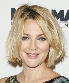 Drew Barrymore Hairstyle - Medium Straight Casual -