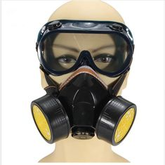 Outdoor Tools Hewolf Black Gas Mask With Goggles Emergency Survival Safety Respiratory Gas Mask Anti Dust Paint Respirator Mask Hot