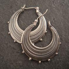 Earrings | Chuck Domitrovich.  Sterling silver