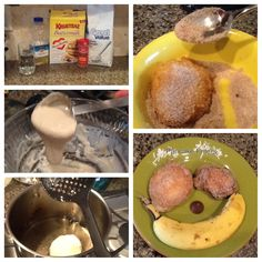 How to make a pancake friter. Yum! A cross between donuts and pancakes!