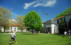 Students enjoy another beautiful day on the quad
