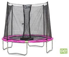 Trampolina do skakania TWIST 180 cm - Różowo - szara Fantastyczna zabawa na świeżym powietrzu!