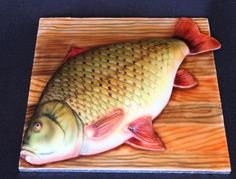Birthday cake for a man, his hobby is fishing a carps. Big thanks my son- he helped me – especially with airbrusch. Shark Birthday Cakes, Birthday Cakes For Men, Fondant Figures, Thomas Cakes, Happy Birthday Cake Images, Gravity Defying Cake, Sculpted Cakes, Animal Cakes, Birthday Cake Decorating