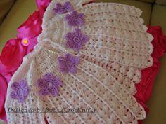 Sunday Best Crochet Baby Jacket top to bottom .....