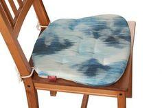 Siedzisko Filip na krzesło 140-71 niebiesko-szary Kolekcja Aquarelle