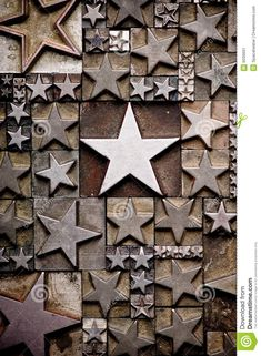 A random arrangement of letterpress stars with narrow depth of field. Part of a series of letterpress backgrounds © Spaceheate... | Dreamstime.com