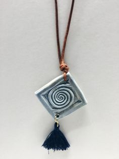 This beautiful collection is handmade by Greek artisan, Olympia. The three are all made of porcelain clay and fired twice. Each come with a tassle for an even bolder statement! Polymer Beads, Clay Beads, Polymer Clay Jewelry, Porcelain Jewelry, Ceramic Jewelry, Porcelain Clay, Jewelry Crafts, Jewelry Art, Jewelry Design