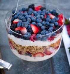 parfaits de frutas