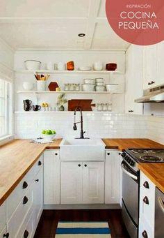desglose de enlaces con consejos para cocinas pequeñas