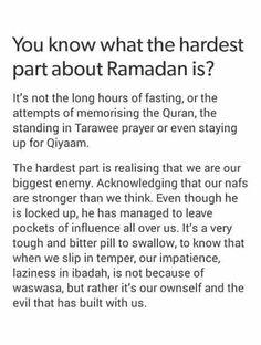 ramadan quotes allah, ego, and Ramadan image Prophet Muhammad Quotes, Hadith Quotes, Muslim Quotes, Religious Quotes, Qoutes, Quran Quotes Inspirational, Quran Quotes Love, Ramadan Tips, Best Ramadan Quotes