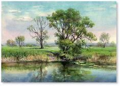 "May in Novoselki village watercolor 8.3""x11.8"", 2015; 100$"