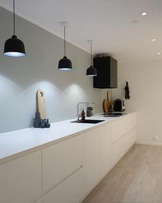 w e e k e n d Good weekend to you, my fine flgere! White Galley Kitchens, Galley Kitchen Design, Interior Design Kitchen, Home Kitchens, Home Decor Kitchen, Kitchen Living, Kitchen Ideas, Narrow Kitchen, Minimalist Kitchen