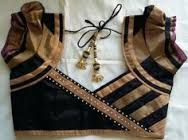 Image result for blouse back neck designs with borders
