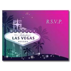 Glamorous Las Vegas Wedding Response (4.25x5.6) Post Cards