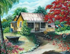 Choose your favorite trinidad and tobago paintings from millions of available designs. All trinidad and tobago paintings ship within 48 hours and include a money-back guarantee. Watercolor Landscape, Landscape Art, Trinidad, Fine Art Amerika, Puerto Rico History, Puerto Rican Culture, Caribbean Art, Photo Images, Cottage Art
