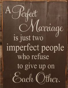 A Perfect Marriage…