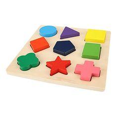 2018 Montessori Materials Insets Shape Puzzles Toddler Preschool Toys LIN