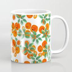 Fresh Orange Juice Pattern Mug by @ANoelleJay | @Society6
